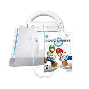 wii console bundle mario kart white